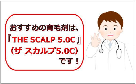 おすすめの育毛剤はTHE SCALP5.0Cです